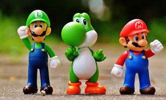 Focus Photo Of Super Mario Luigi And Yoshi Figurines 163036