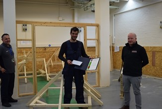 Commendation For Newcastle College Carpentry Student From Institute Of Carpenters (Ioc)